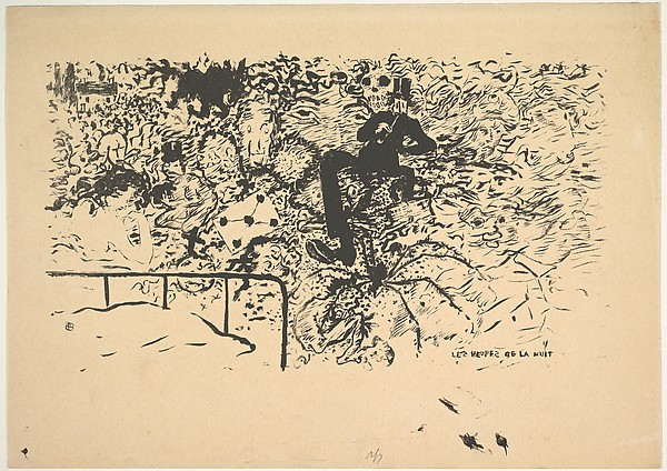"The Night Hours, from ""Familiar Little Scenes"" by Claude Terrasse, Pierre Bonnard (French, Fontenay-aux-Roses 1867–1947 Le Cannet), Lithograph"
