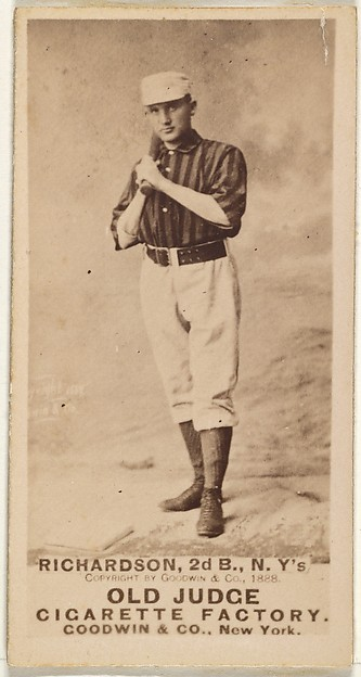 Danny Richardson, 2nd Base, New York, from the Old Judge series (N172) for Old Judge Cigarettes, Issued by Goodwin & Company, Albumen photograph
