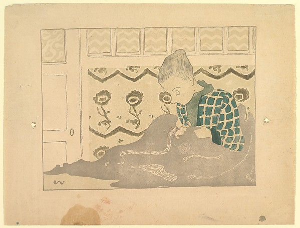 The Seamstress, Édouard Vuillard (French, Cuiseaux 1868–1940 La Baule), Color lithograph, wood engraving, and woodcut