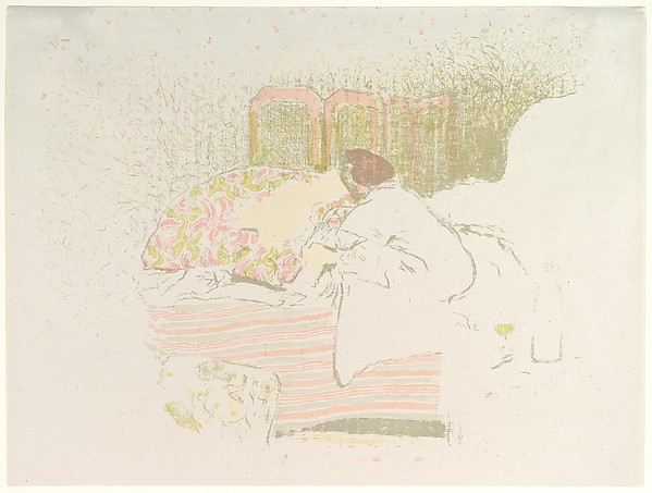 The Birth of Annette, Édouard Vuillard (French, Cuiseaux 1868–1940 La Baule), Color lithograph on China paper; trial proof of undescribed early state