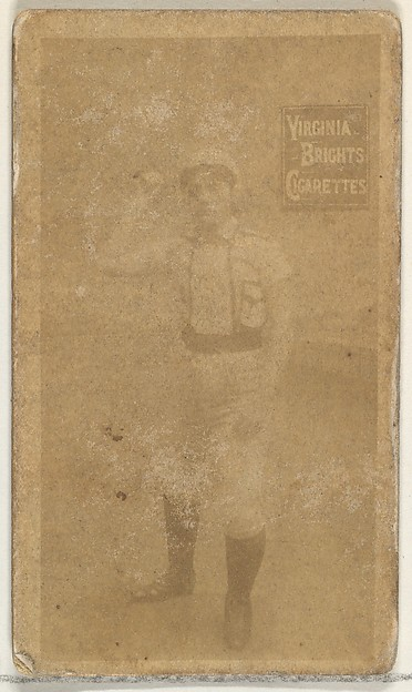 From the Girl Baseball Players series (N48, Type 2) for Virginia Brights Cigarettes, Issued by Allen & Ginter (American, Richmond, Virginia), Albumen photograph