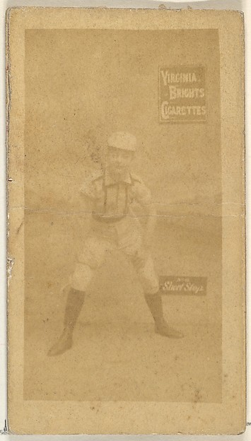 Shortstop, from the Girl Baseball Players series (N48, Type 2) for Virginia Brights Cigarettes, Issued by Allen & Ginter (American, Richmond, Virginia), Albumen photograph