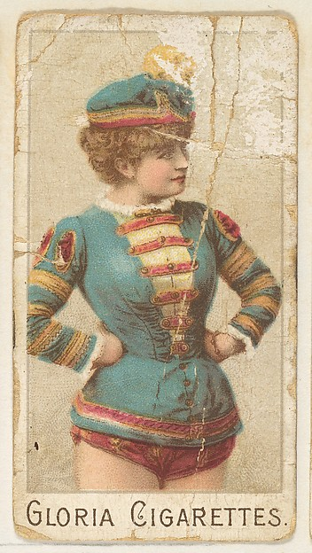"""From the series """"Sports Girls"""" (C190), issued by the American Cigarette Company, Ltd., Montreal, to promote Gloria Cigarettes, Issued by the American Cigarette Company, Ltd. (Montreal), Commercial color lithograph"""