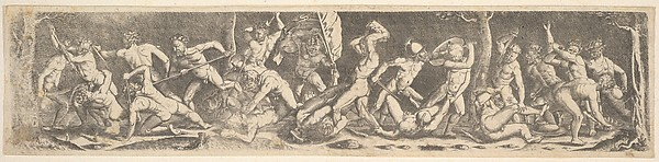 Battle for the Banner (copy), Barthel Beham (German, Nuremberg ca. 1502–1540 Italy), Engraving