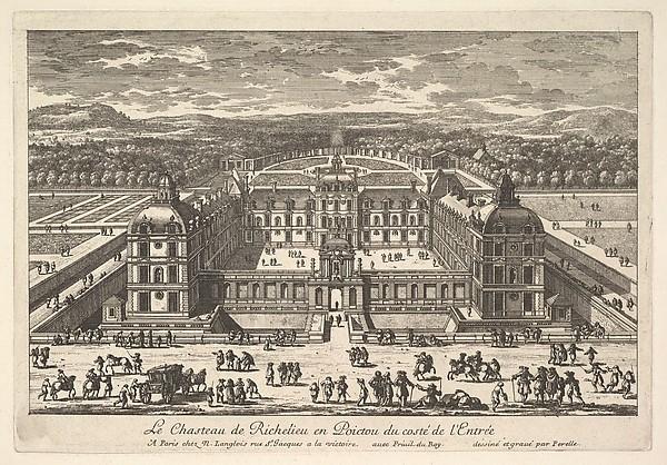 Le Château de Richelieu en Poictou du Côté de l'Entrée, Adam Perelle (French, Paris 1640–1695 Paris), Etching