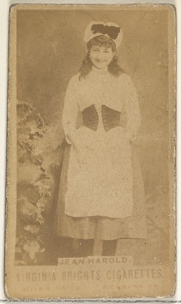 Jean Harold, from the Actors and Actresses series (N45, Type 1) for Virginia Brights Cigarettes, Issued by Allen & Ginter (American, Richmond, Virginia), Albumen photograph