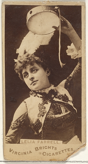 Leila Farrell, from the Actors and Actresses series (N45, Type 1) for Virginia Brights Cigarettes, Issued by Allen & Ginter (American, Richmond, Virginia), Albumen photograph