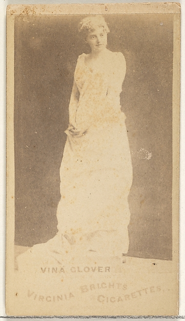 Vina Glover, from the Actors and Actresses series (N45, Type 1) for Virginia Brights Cigarettes, Issued by Allen & Ginter (American, Richmond, Virginia), Albumen photograph