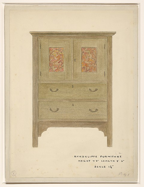 Sassafras Linen Press, Byrdcliffe Arts and Crafts Colony (American, 1902–1915), Watercolor, colored pencil, and black ink, over graphite