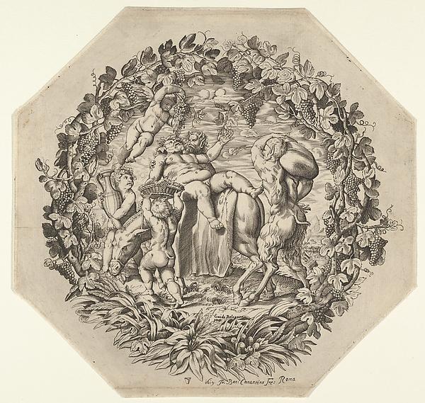 Bacchanal (after Guido Reni), Giovanni Battista Costantini (Italian, active 1615–1628), Engraving