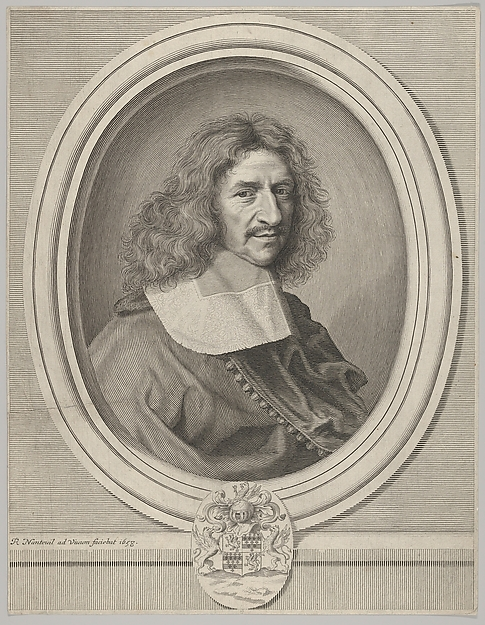 Louis Hesselin, Robert Nanteuil (French, Reims 1623–1678 Paris), Engraving; first state of two (Petitjean & Wickert)