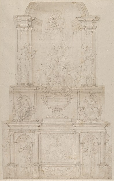 Michelangelo buonarroti design for the tomb of pope julius ii design for the tomb of pope julius ii della rovere michelangelo buonarroti italian fandeluxe Choice Image