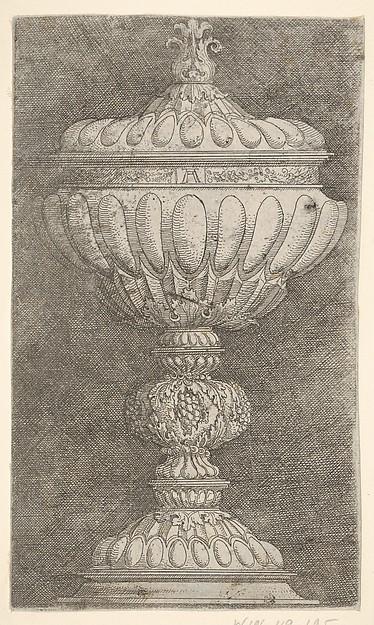 Covered Goblet with Grapes on the Stem, Albrecht Altdorfer (German, Regensburg ca. 1480–1538 Regensburg), Etching