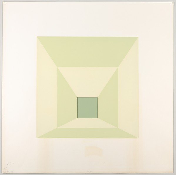 Mitered Square, Josef Albers (American (born Germany), Bottrop 1888–1976 New Haven, Connecticut), Silkscreen with collage maquette