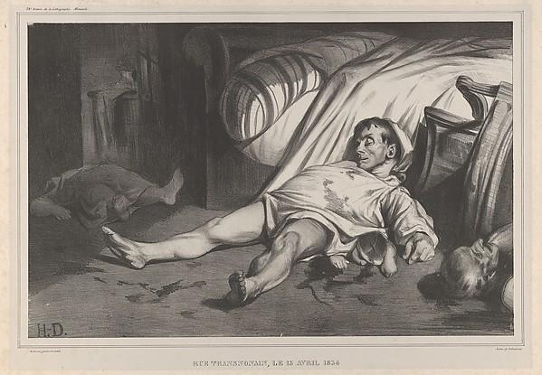 Rue Transnonain,  le 15 Avril, 1834, Plate 24 of l'Association mensuelle, Honoré Daumier (French, Marseilles 1808–1879 Valmondois), Lithograph