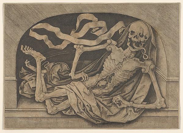 Memento Mori, Master IAM of Zwolle (Netherlandish, active ca. 1470–95), Engraving