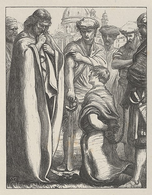 The Unmerciful Servant (The Parables of Our Lord and Saviour Jesus Christ), After Sir John Everett Millais (British, Southampton 1829–1896 London), Wood engraving; proof on India paper