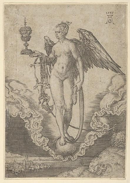 Fortune, Heinrich Aldegrever (German, Paderborn ca. 1502–1555/1561 Soest), Engraving