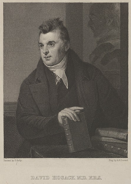 David Hosack, M.D., F.R.S., Asher Brown Durand (American, Jefferson, New Jersey 1796–1886 Maplewood, New Jersey), Engraving on chine collé; second state of two