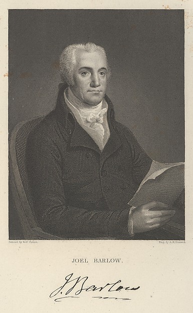 Joel Barlow, Asher Brown Durand (American, Jefferson, New Jersey 1796–1886 Maplewood, New Jersey), Engraving