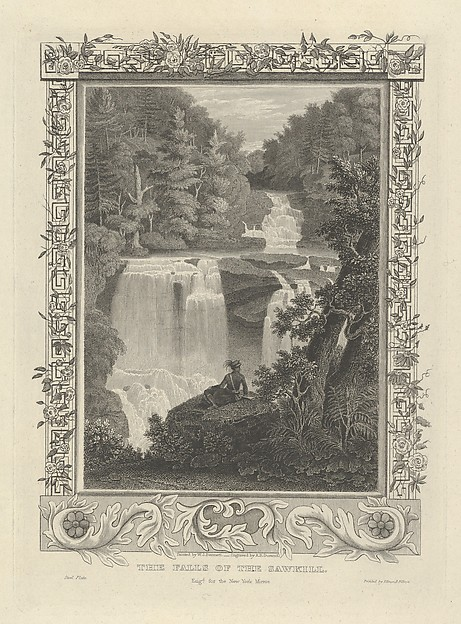 The Falls of the Sawkill, Asher Brown Durand (American, Jefferson, New Jersey 1796–1886 Maplewood, New Jersey), Steel engraving