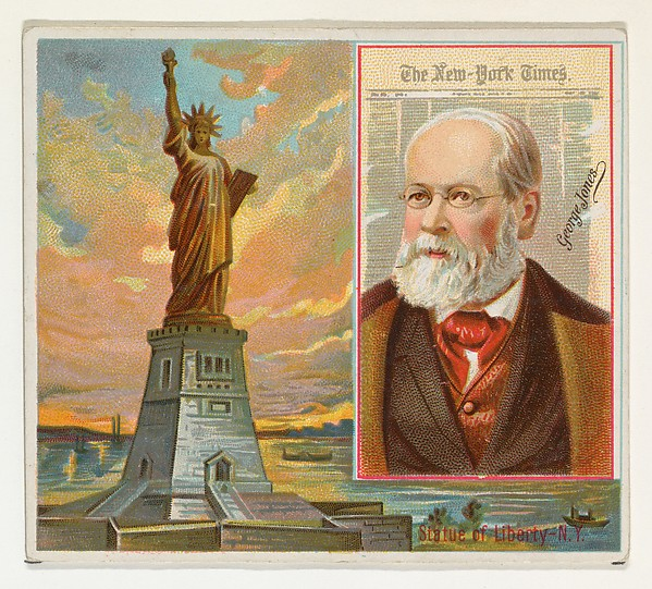 George R. Jones, The New York Times, from the American Editors series (N35) for Allen & Ginter Cigarettes, Issued by Allen & Ginter (American, Richmond, Virginia), Commercial color lithograph