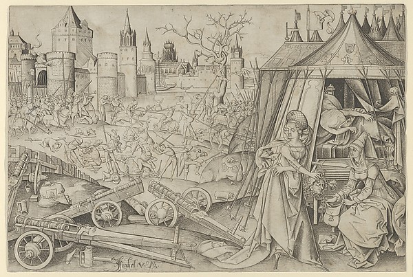 Judith with the Head of Holophernes, Israhel van Meckenem (German, Meckenem ca. 1440/45–1503 Bocholt), Engraving