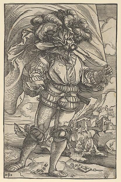The Standard Bearer, Hans Schäufelein (German, Nuremberg ca. 1480–ca. 1540 Nördlingen), Woodcut