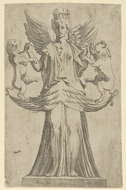 Cybele, Antonio Fantuzzi (Italian, active France, 1537–45), Etching
