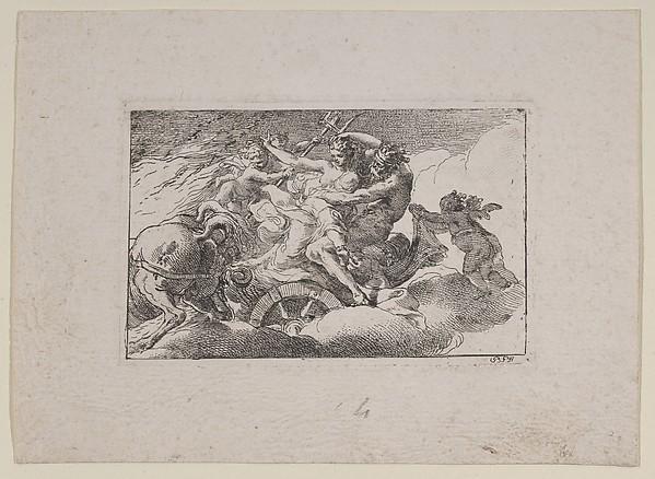 Rape of Persephone, Gaetano Gandolfi (Italian, San Matteo della Decima 1734–1802 Bologna), Etching
