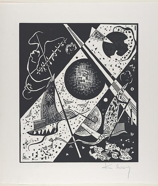 Kleine Welten VI (Small Worlds VI), Vasily Kandinsky (French (born Russia), Moscow 1866–1944 Neuilly-sur-Seine), Woodcut