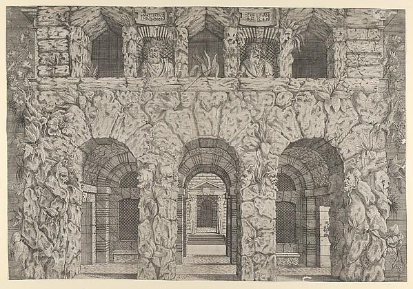 A Cryptoportico, Antonio Fantuzzi (Italian, active France, 1537–45), Etching