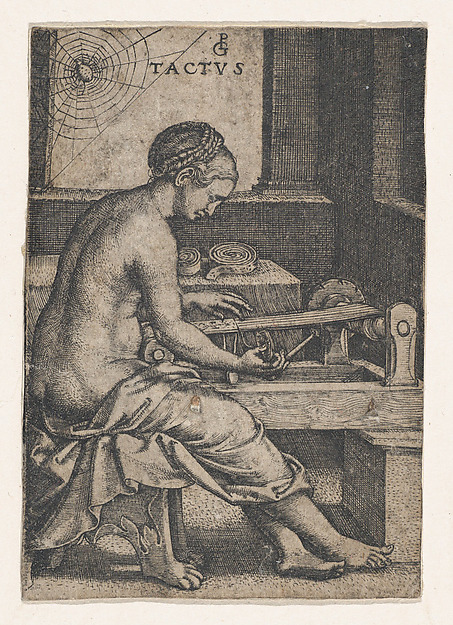 Touch (Tactus), from The Five Senses, Georg Pencz (German, Wroclaw ca. 1500–1550 Leipzig), Engraving