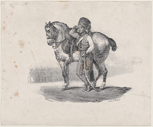 The Trumpet of the Hussards, Théodore Gericault (French, Rouen 1791–1824 Paris), Lithograph; second state of three