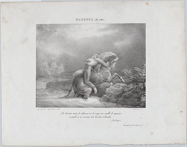 Mazeppa, Théodore Gericault (French, Rouen 1791–1824 Paris), Lithograph