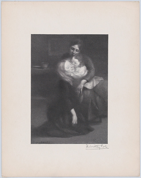 Intimité (The Kiss), Engraved by Timothy Cole (American, London 1852–1931 Poughkeepsie, New York), Wood engraving