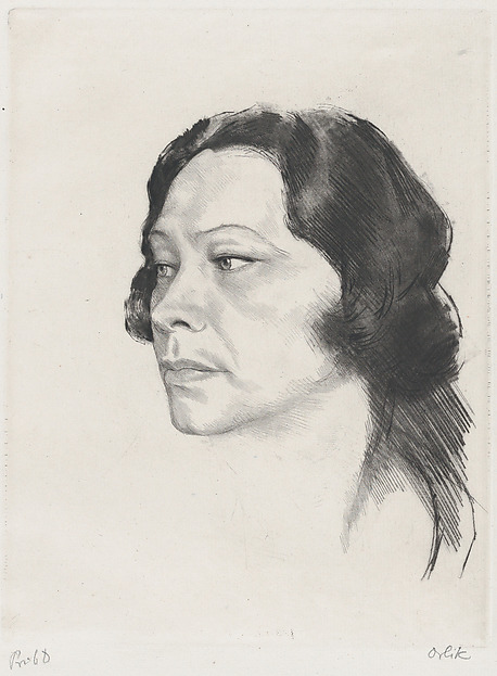 Tilla Durieux, Emil Orlik (Austro-Hungarian, Prague 1870–1932 Berlin), Etching and drypoint, proof
