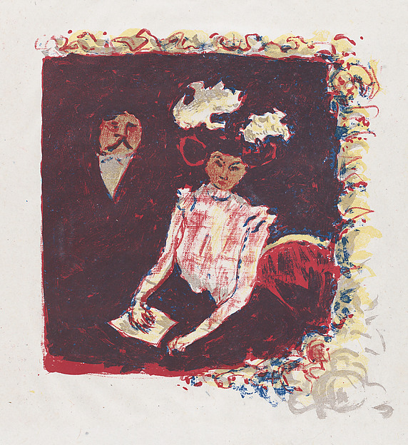 Frontispiece for Color Lithography by  André Mellerio, Pierre Bonnard (French, Fontenay-aux-Roses 1867–1947 Le Cannet), Color lithograph