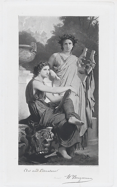 Art and Literature, After William Bouguereau (French, La Rochelle 1825–1905 La Rochelle), Lithograph