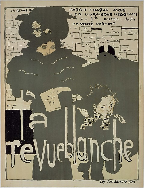 La Revue blanche, Pierre Bonnard (French, Fontenay-aux-Roses 1867–1947 Le Cannet), Lithograph in four colors on off-white wove paper