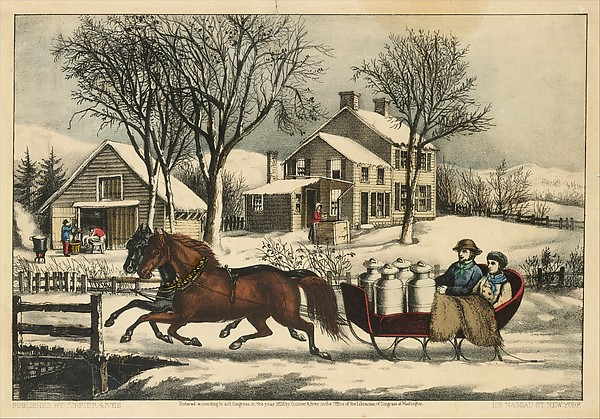 Winter Morning in the Country, Currier & Ives (American, active New York, 1857–1907), Lithograph