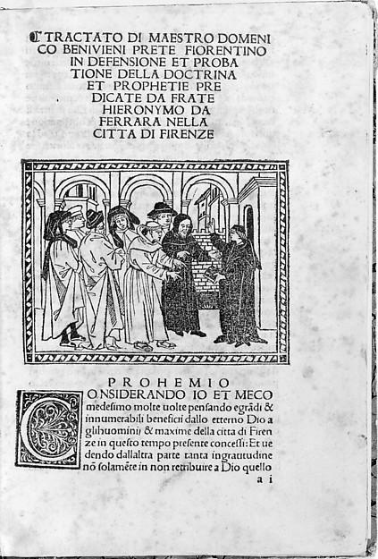 Tractato in Defensione, Written by Domenico Benevieni