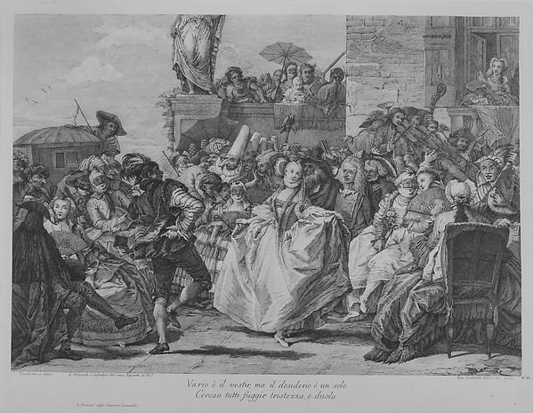 The Minuet, Giacomo Leonardis (Italian, 1723–1794), Etching and engraving