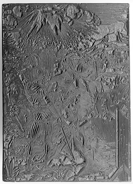 The Martyrdom of Saint Catherine, Albrecht Dürer (German, Nuremberg 1471–1528 Nuremberg), Black ink on carved pearwood