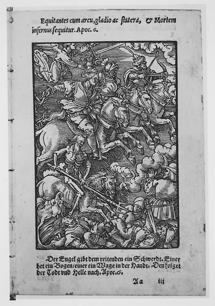 Apocalypsis S. Ioannis/ Die Offenbarung S. Johannis, Printed by Hermann Gülfferich (1542–1554), Woodcuts