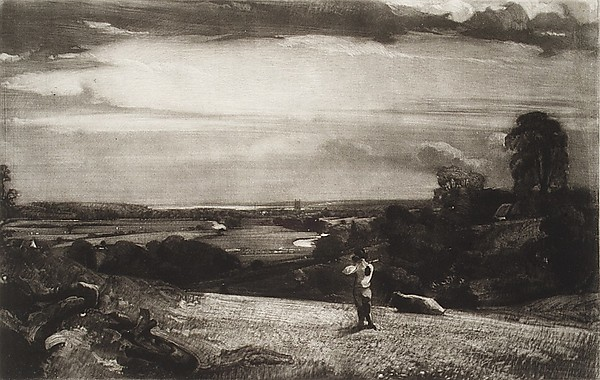 Summer Morning, David Lucas (British, Northamptonshire 1802–1881 London), Mezzotint; between states a and b, proof before letters