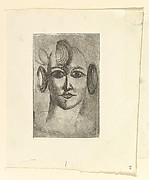 Female Head, Elie Nadelman (American (born Poland), Warsaw 1882–1946 Riverdale, New York), Drypoint; first state of three