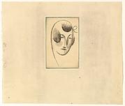 Female Head (Woman's Head with Ribbon), Elie Nadelman (American (born Poland), Warsaw 1882–1946 Riverdale, New York), Drypoint