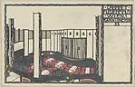 Cabaret Fledermaus - Theatre (Cabarett Fledermaus, Wein 1. Kärnthnerstr. 33 Theatersaal), Josef Hoffmann (Austrian, Pirnitz 1870–1956 Vienna), Color lithograph