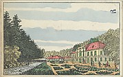 Old Karlsbad: The Hall of Fellowship (Alt-Karlsbad. Der Freundschafts-Saal), Unknown, Color lithograph